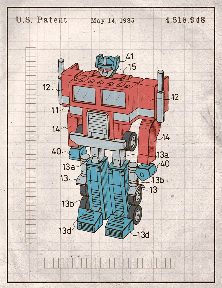 Optimus Prime Transformers Patent  by AquanautStudio