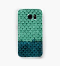 SHELTER / green and petrol Samsung Galaxy Case/Skin