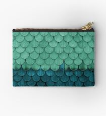 SHELTER / green and petrol Studio Clutch