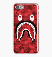 BAPE SHARK RED CAMO iPhone Case/Skin
