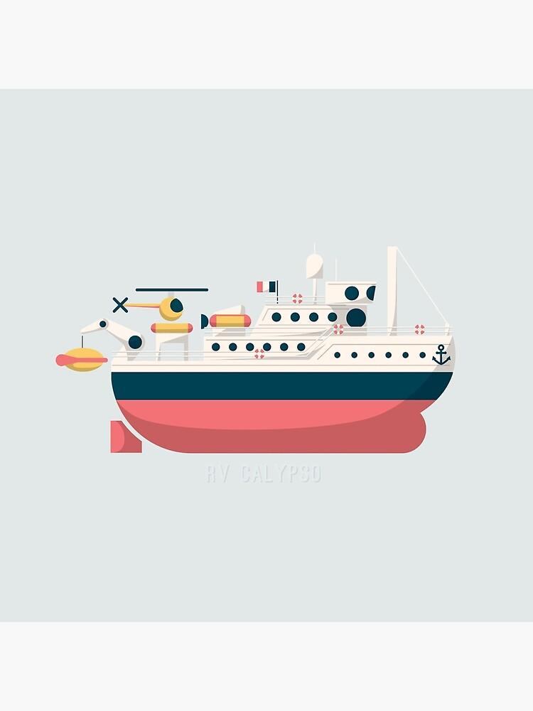 Minimalist Jacques Cousteau's Research Vessel Calypso by AquanautStudio