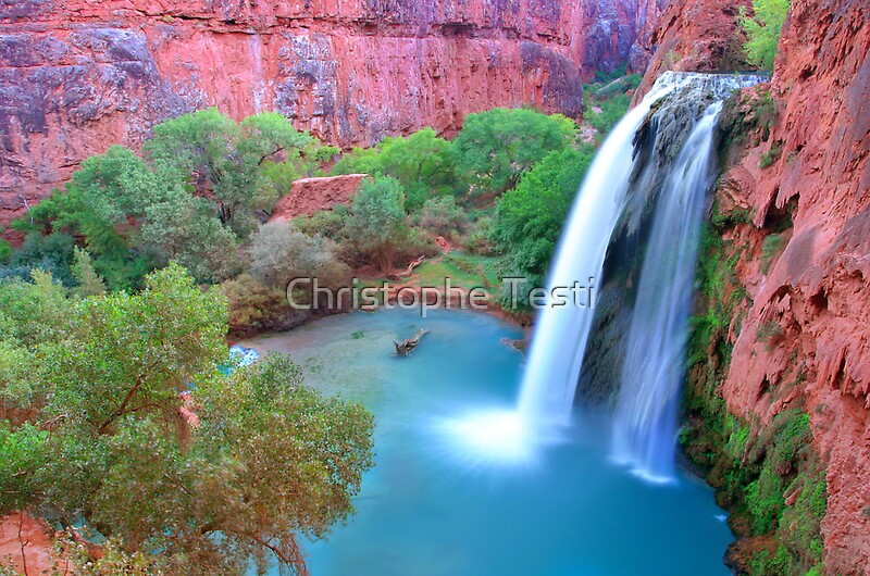 Quot Havasu Falls Quot By Christophe Testi Redbubble