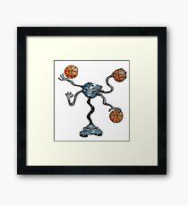 DUNK-N Robot Framed Print