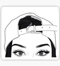 Girl In Backwards Baseball Cap Sticker