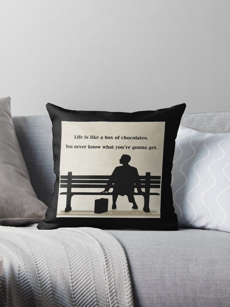 """Master Gump"""" Throw Pillows by brunaashby"""