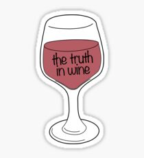 the truth in Wine Sticker