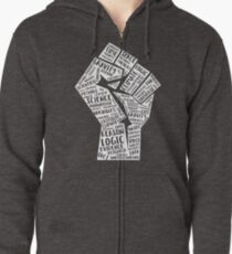March For Science Fist Zipped Hoodie
