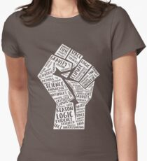 March For Science Fist Women's Fitted T-Shirt