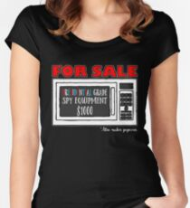 Microwave Spy Equipment Design Women's Fitted Scoop T-Shirt
