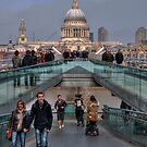 St Paul's and the Millennium Bridge by AJM Photography