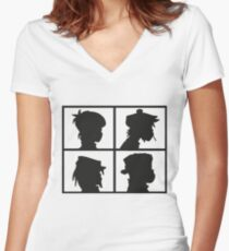 The Gorillaz Logo Women's Fitted V-Neck T-Shirt