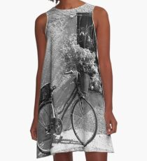 Bicycle and Window A-Line Dress