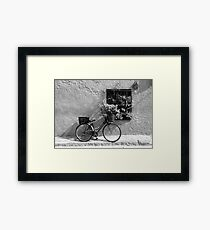 Bicycle and Window Framed Print