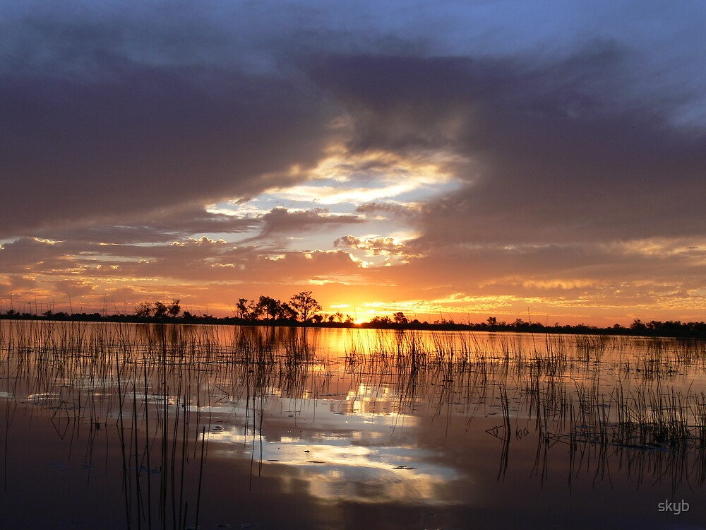 African Sunset by skyb