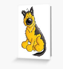 Cute German Shepherd Greeting Card