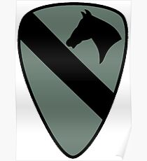 1st Cavalry Division (Subdued) Poster