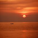 Sunset in the Bismarck Sea by Clare McClelland