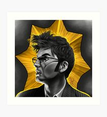 The Tenth Doctor David Tennant Hair Doctor Who Art Print