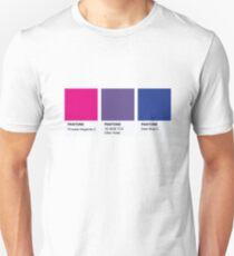 LGBT COLOR PANTONE PALLETE BISEXUAL COMMUNITY DESIGN Unisex T-Shirt