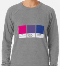 LGBT COLOR PANTONE PALLETE BISEXUAL COMMUNITY DESIGN Lightweight Sweatshirt