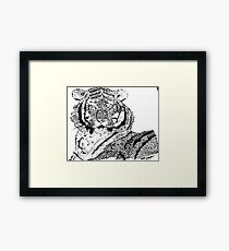 The Eyes of A Tiger Framed Print