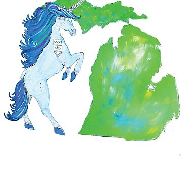 Michigan Unicorn by brianbarnardart