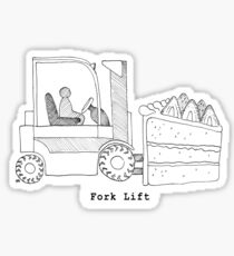 Fork Lift Sticker