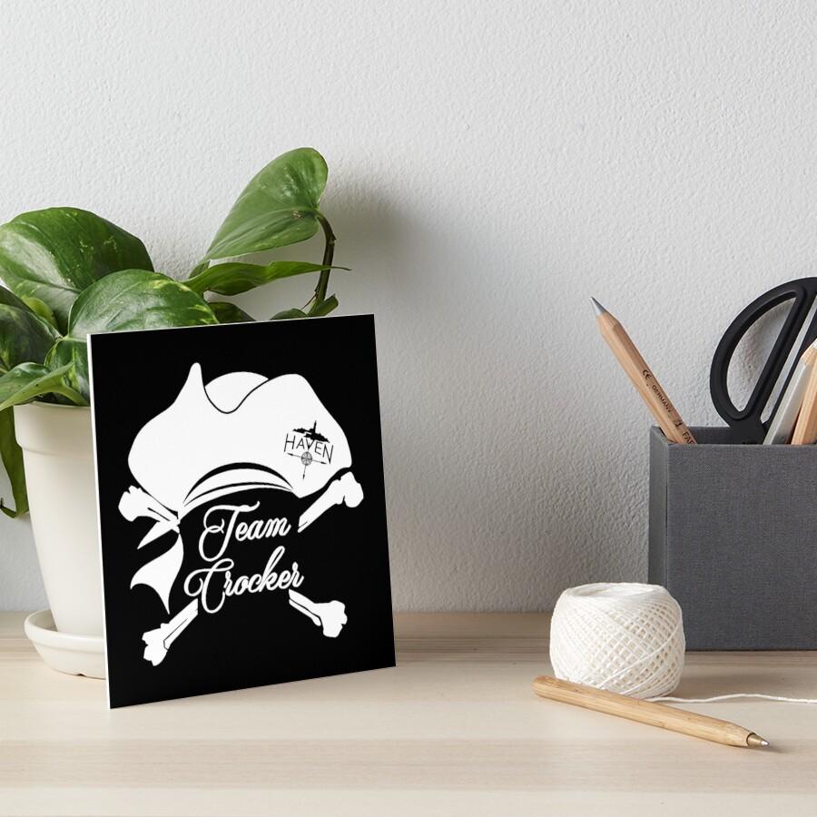 27621588 Haven Team Crocker White Pirate Hat Logo