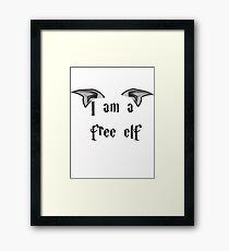 I am a Free Elf Framed Print