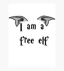 I am a Free Elf Photographic Print