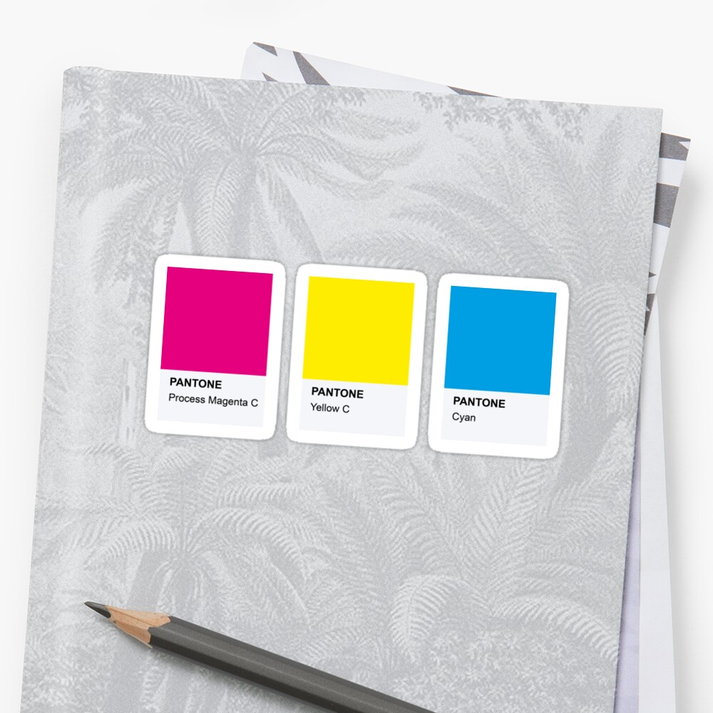 PANTONE COLOR pallete pansexual LGBT-Community DESIGN Sticker