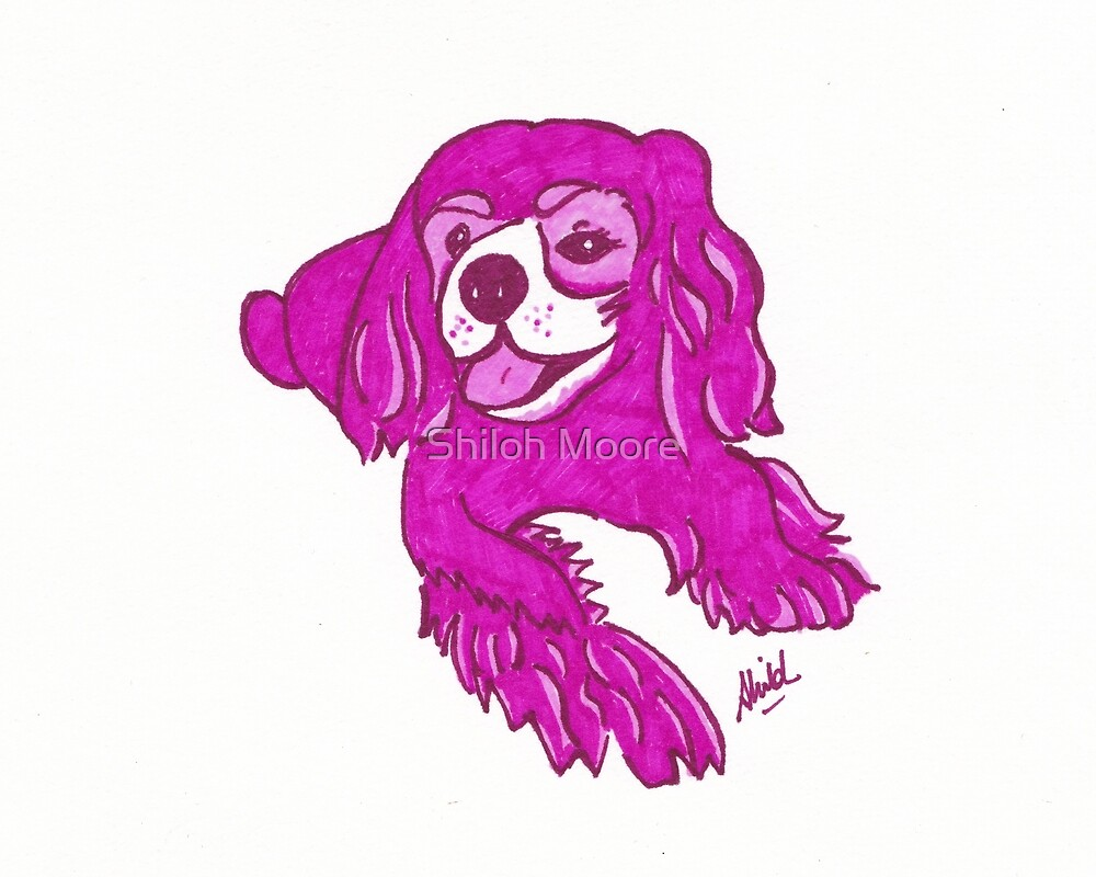 Pop Art King Charles Cavalier Spaniel by Shiloh Moore