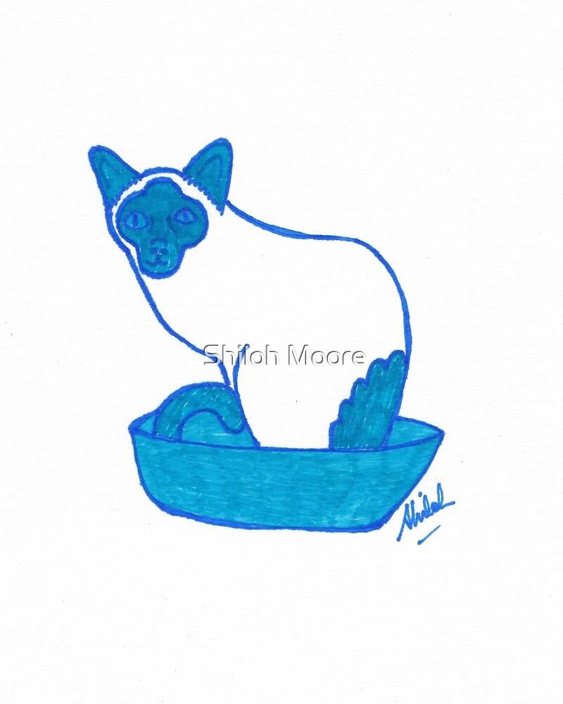 Pop Art Siamese Cat by Shiloh Moore