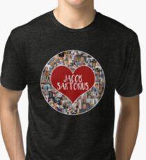 I love Jacob Sartorius - Circle Tri-blend T-Shirt