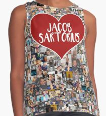 I love Jacob Sartorius - with white outline Contrast Tank