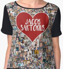 I love Jacob Sartorius - with white outline Chiffon Top