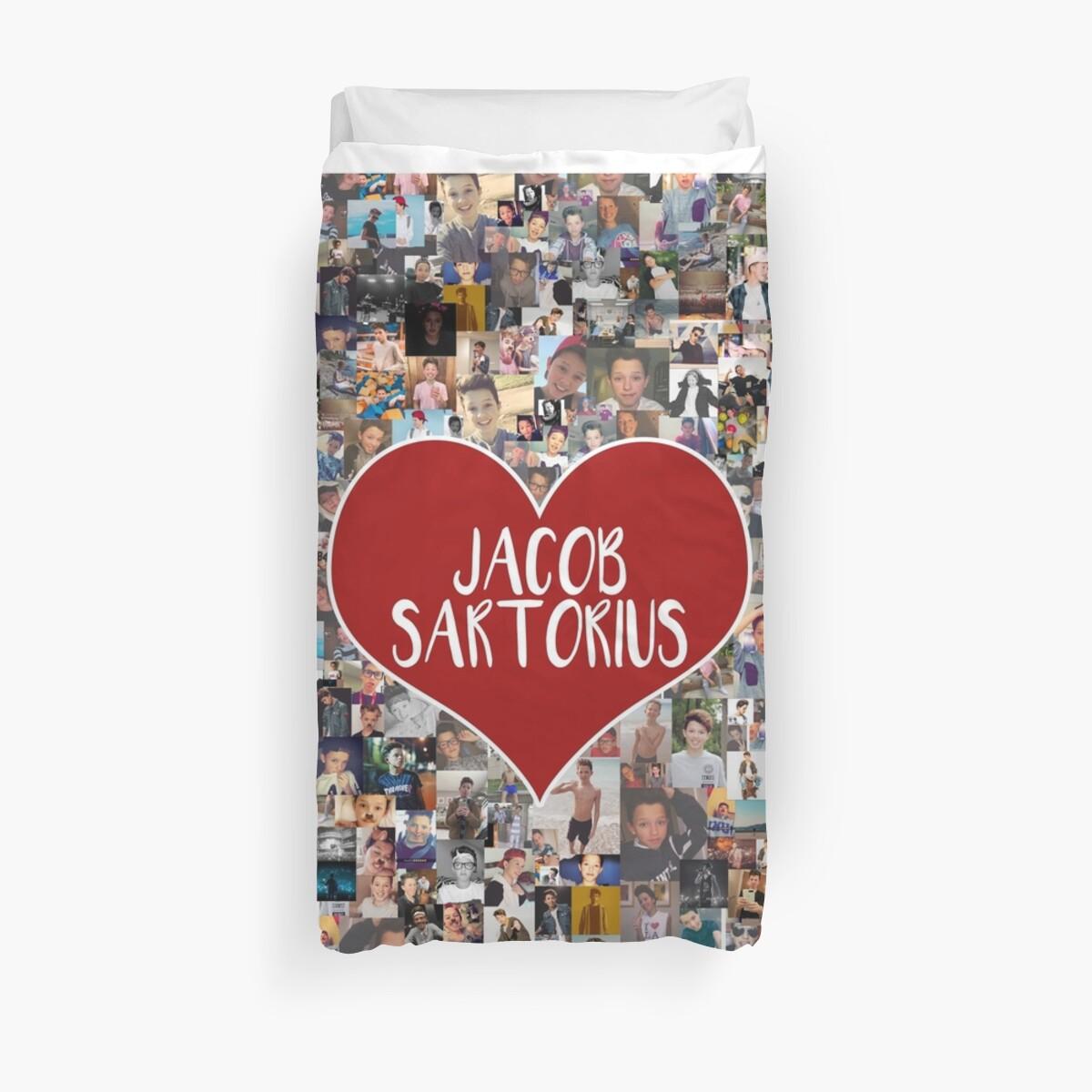 Ich liebe Jacob Sartorius - mit weißem Umriss von The Art Collector