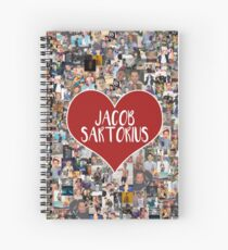 I love Jacob Sartorius - with white outline Spiral Notebook