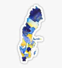 Watercolor Countries - Sweden Sticker