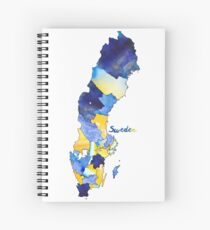 Watercolor Countries - Sweden Spiral Notebook