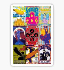 Led Zep Classic Concerts Collage Sticker