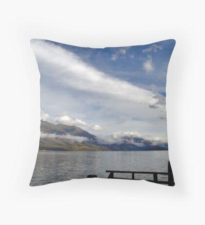Kinloch Lodge Dock Throw Pillow