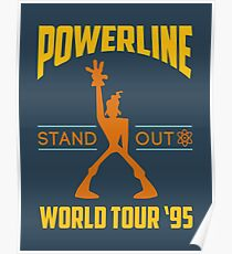 Powerline Stand Out World Tour '95 Poster