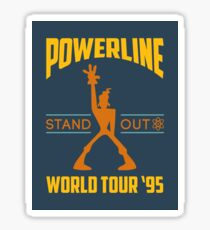 Powerline Stand Out World Tour '95 Sticker