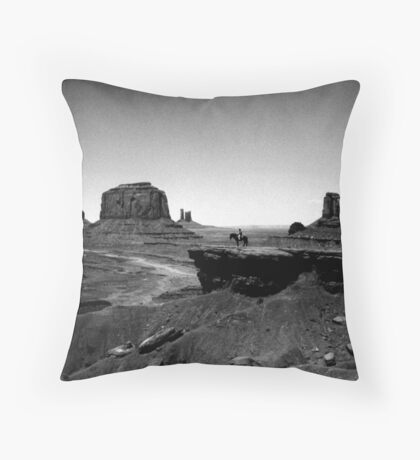 Lone Cowboy Throw Pillow