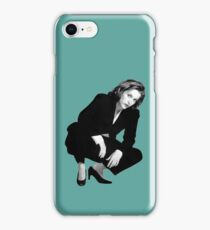 Crouching Scully iPhone Case/Skin