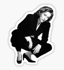 Crouching Scully Sticker