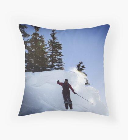 Snow Shoe Jump Throw Pillow
