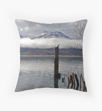 Lake Wakitipu Wildlife Throw Pillow