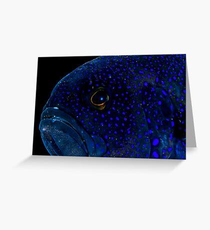 Blue Devil Greeting Card